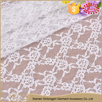 Nice design royal eco friendly nylon white cord lace fabric for wedding dress