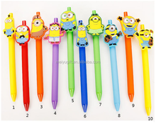 Wholesale high quality personalized gifts minions character 0.5mm black ink gel pen