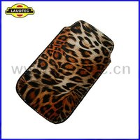 Fashionable Leopard Grain,Pull Tab Leather Pouch Case for Apple iPhone 4 4s,New arrival,Fast delivery----Laudtec