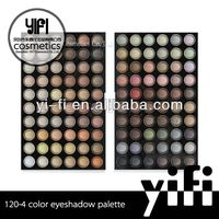 HOT Professional 120 Warm Color Eye Shadow Palette clear cosmetic container