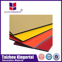 Alucoworld smooth surface solid colors PE coated aluminum composite interior wall paneling