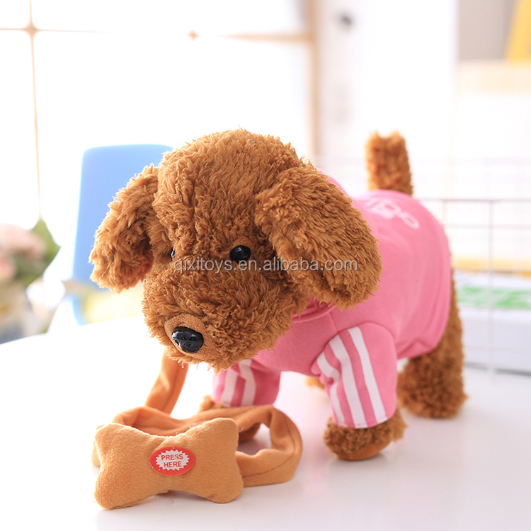2017 Hot sale electric dog plush toys for kids educational with customized color and logo