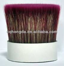 Red Mixture Bristles with PET tapered filaments