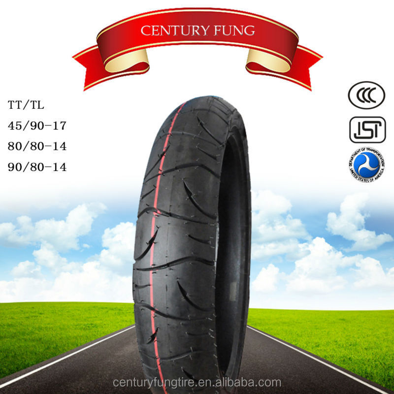 good quality cheaper price Motorcycle tubeless Tyre 45 /90-17 made in china