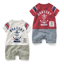 Ropa infantil carters niños jumpsuit romper con rayas shorts