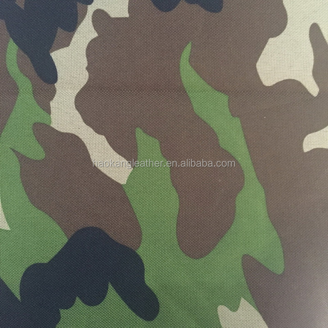 300d 600d woven camouflage pvc fabric for making bags