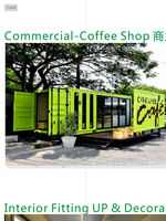Modern modified 20 feet container cafe / container house for sale