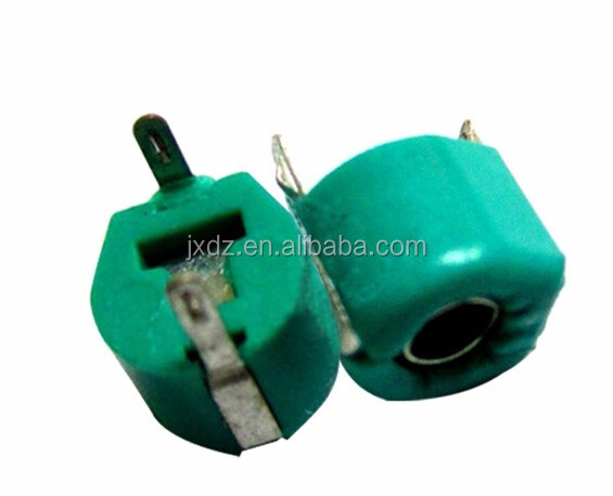 Trimmer Capacitor 30PF Green color 6mm diameter Variable capacitor adjustable TZ03R300 5.2P-10PF 100V