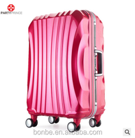 Factory direct selling ABS+PC aluminium sash luggage boarding trolley case