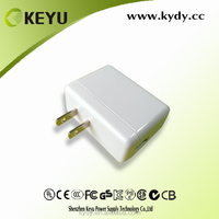 plastic enclosure US CN plug white power charger for mobile phone with CE CB CCC approved
