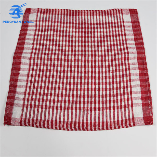 red striped terry kitchen tea towel