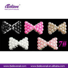Professional Salon Beauty Design Tools Rhinestone Bow 3D Nail Art Decoration For Fashion Girl