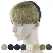 Synthetic Hair Fringe with Clip Black Blonde Blunt Fake Hair Bangs Hair Pieces