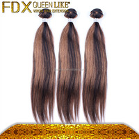 Healthy and beauiful 100% Peruvian human ombre hair black & brown braiding hair made in China
