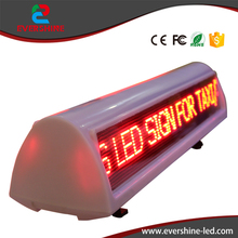 P6 Outdoor LED Advertising text Screen Single Red Taxi Car Roof Message Led Dispaly sign For Sale