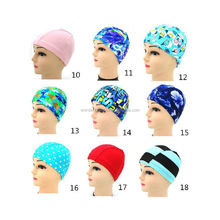 High quality UV lycra ladies cap swim hat