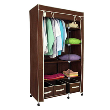 Non-woven fabric portable folding foldable wardrobe for bedroom