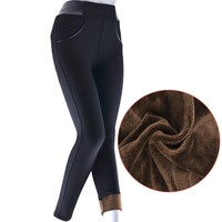 frozen country winter best choice double thickened flannel lining leggings for lady