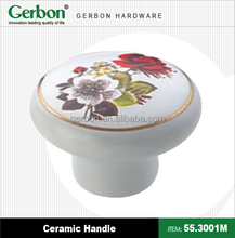 porcelain handle with flowers surface