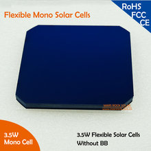 Highest Efficiency Solar Cell Flexible Solar Cell High Efficiency 3.5W,125x125mm 5 Inch Mono Solar Cell Make Full Use of Sunpowe