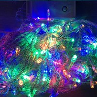 Christmas Decoration lights 10M 100 LED string Light110V/220V Wedding garland outdoor curtain rope lamps Christmas light