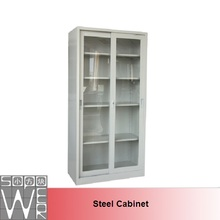 up metal sliding glass door filing cabinet