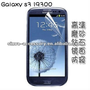 Factory Produced Anti-fingerprint Screen protector for samsung S3 i9300