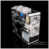 Wholesale Retail PC-A006 Vertical Transparent Chassis Acrylic Plastic Personalized Computer Case