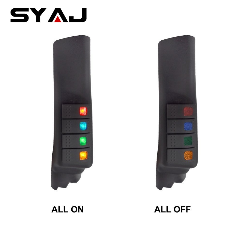 Car Accessories Switch Panel Pod For J-eep Wrangler JK 07-16 A-Pillar 4 Switch Panel Led Touch Light Indicator