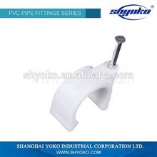 Manufacturer Good quality PVC BSPT THREAD PIPE FITTINGS PVC Clip PLASTIC PIPE FITTINGS