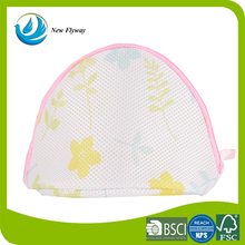 triangular form simple style portable mesh folding bra laundry bag