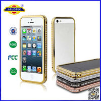 Crystal Rhinestone Diamond Bling Metal Mobile phone Case Cover Bumper for iPhone 4 S/5 S/6