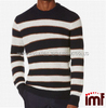 China Factory Mens Crew Neck Sweater Stripe Cashmere Sweater Design