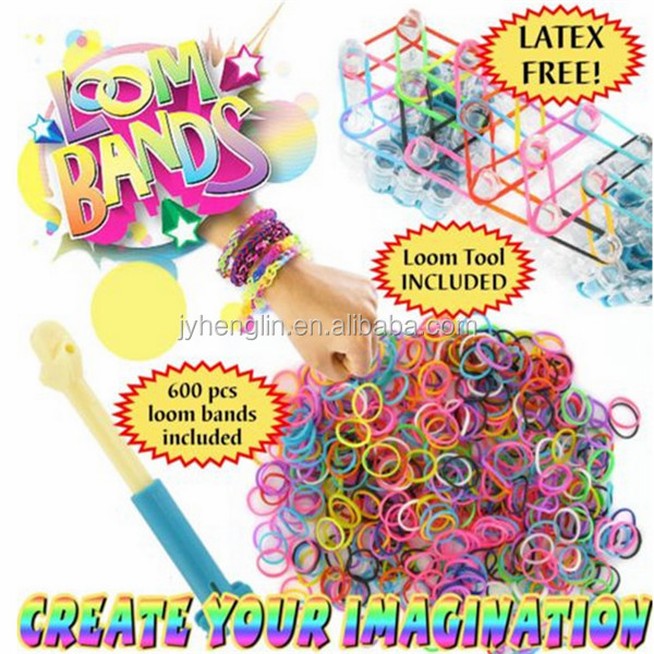2015 children holiday fun box crazy diy rubber loom band kit / set for bracelet