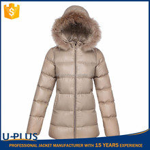Luxurious women leather coat with hood fancy clothes