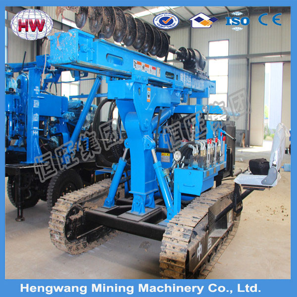 2016 hengwang Truck Mounted Guardrail Pile Driver whatsapp +8613508973211
