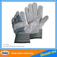 Strip back Cow split buffalo leather full palm work glove, Free Samples