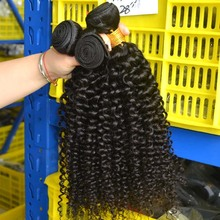 High quality natural black afro kinky human hair ponytail