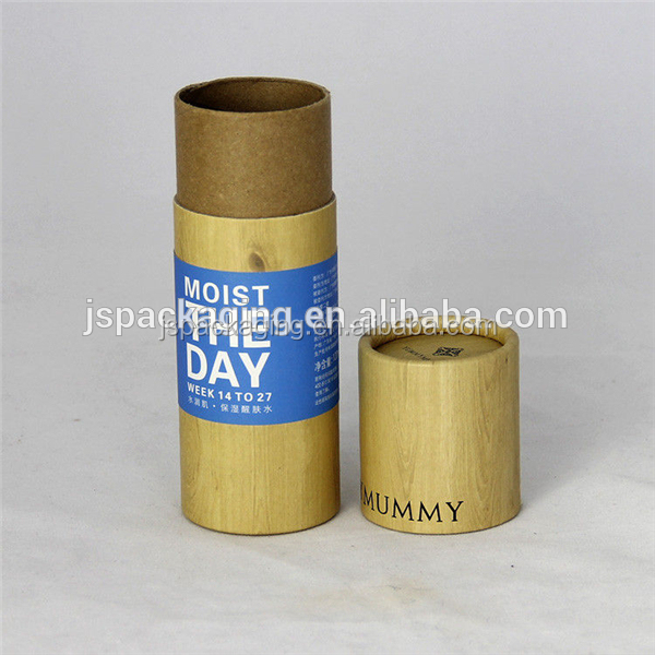 biodegradable brown kraft cardboard natural deodorant packaging paper tube push up deodorant stick sunscreen stick packaging
