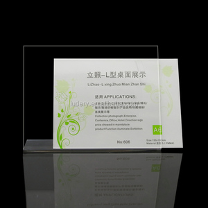 plexiglass table display perpsex T stand for label display a4,a5,a6 table display