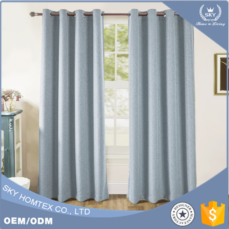 2017 new design curtain blackout curtains for living room