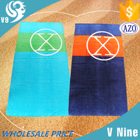 100% cotton printed wholesale advertising brand logo velour beach towels