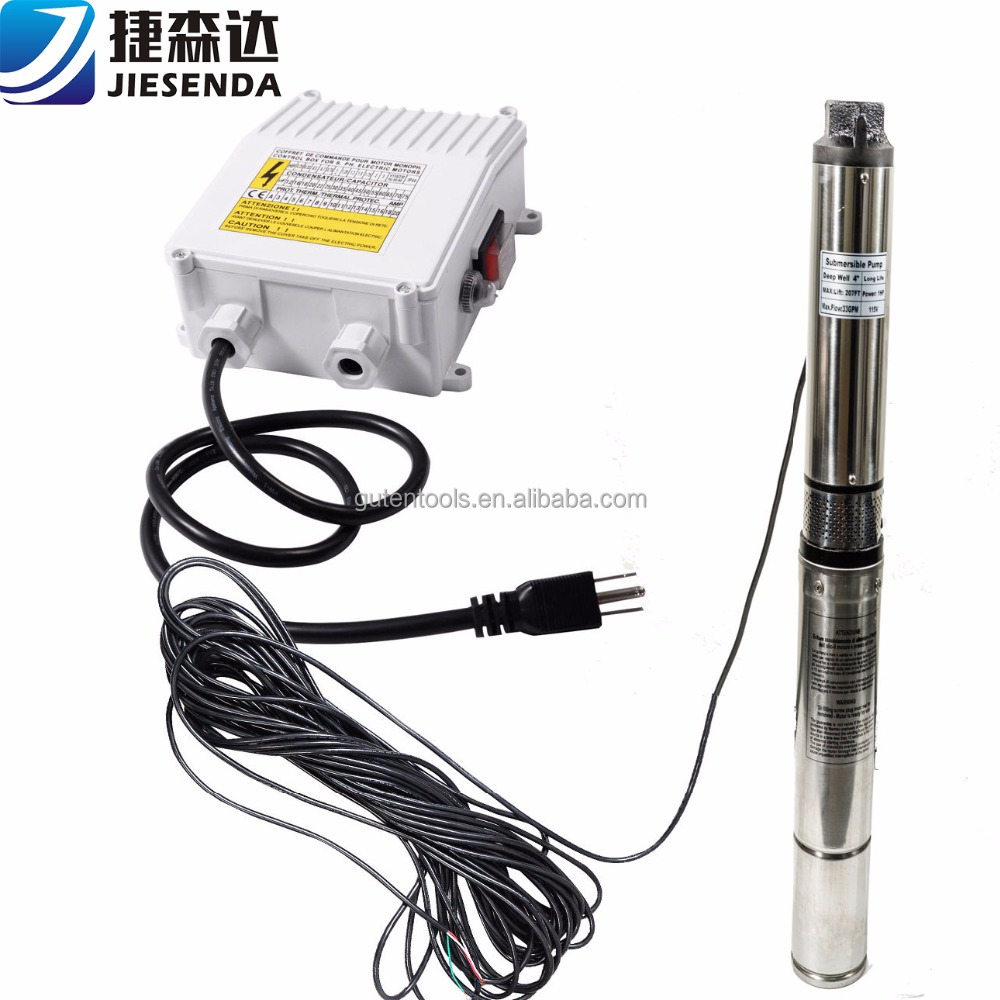 High Capacity 3 inch 4 inch deep well submersible water pump for irrigation