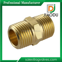 "1/8"" or 1/2"" or 3/4"" Plumbing Equal Long Nipple Brass Bspt Male Hexagon Nipple Pipe Fitting Threaded Copper Nipple"