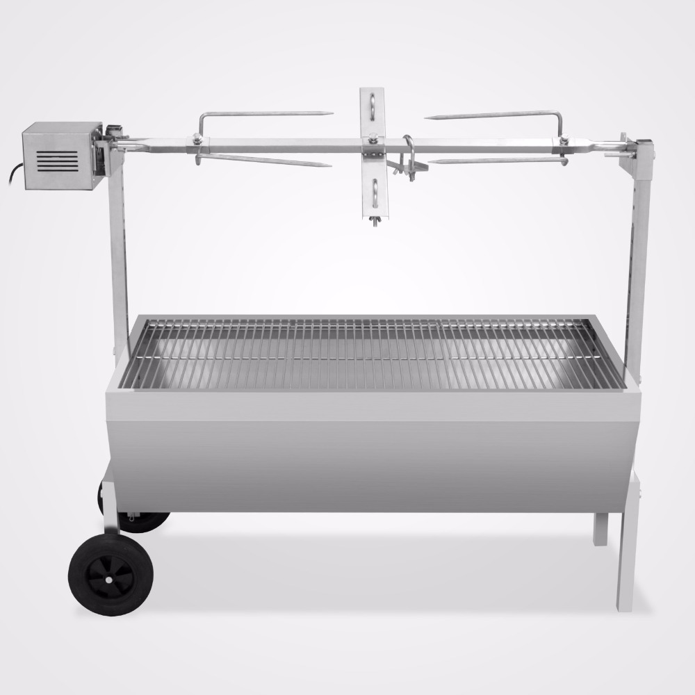 VEVOR Spit Roaster for BBQ Outdoor 88Lbs Capability Rotisserie Spit for Pigs Lambs Spit Roast With Electric Motor Grill (88 LBS)