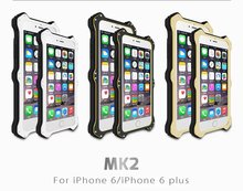 For iphone 6, for iphone 6plus case LOVE MEI MK2 Waterproof Shockproof Dirtproof Aluminum Hard Metal Wireless Charging Case