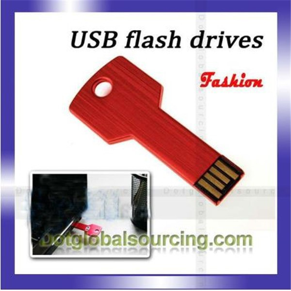 New arrival fashion cheap Multi-color key shhape USB 2.0 8GB Flash Drive