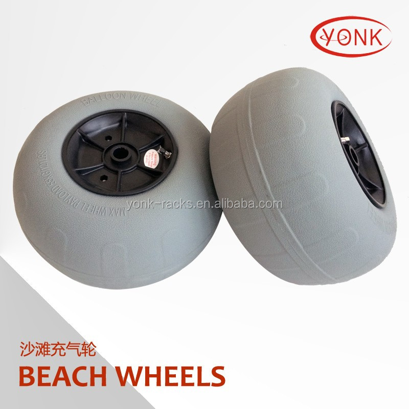 "12"" Pneumatic PU tyre beach wheels balloon wheels for kayak cart/trolley"