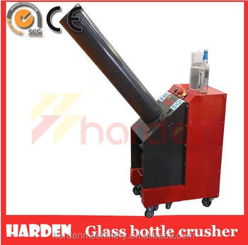 glass bottle recycling machine