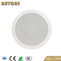 High quality 30W 2 Way 6 inch PA system coaxial ceiling speaker with covers